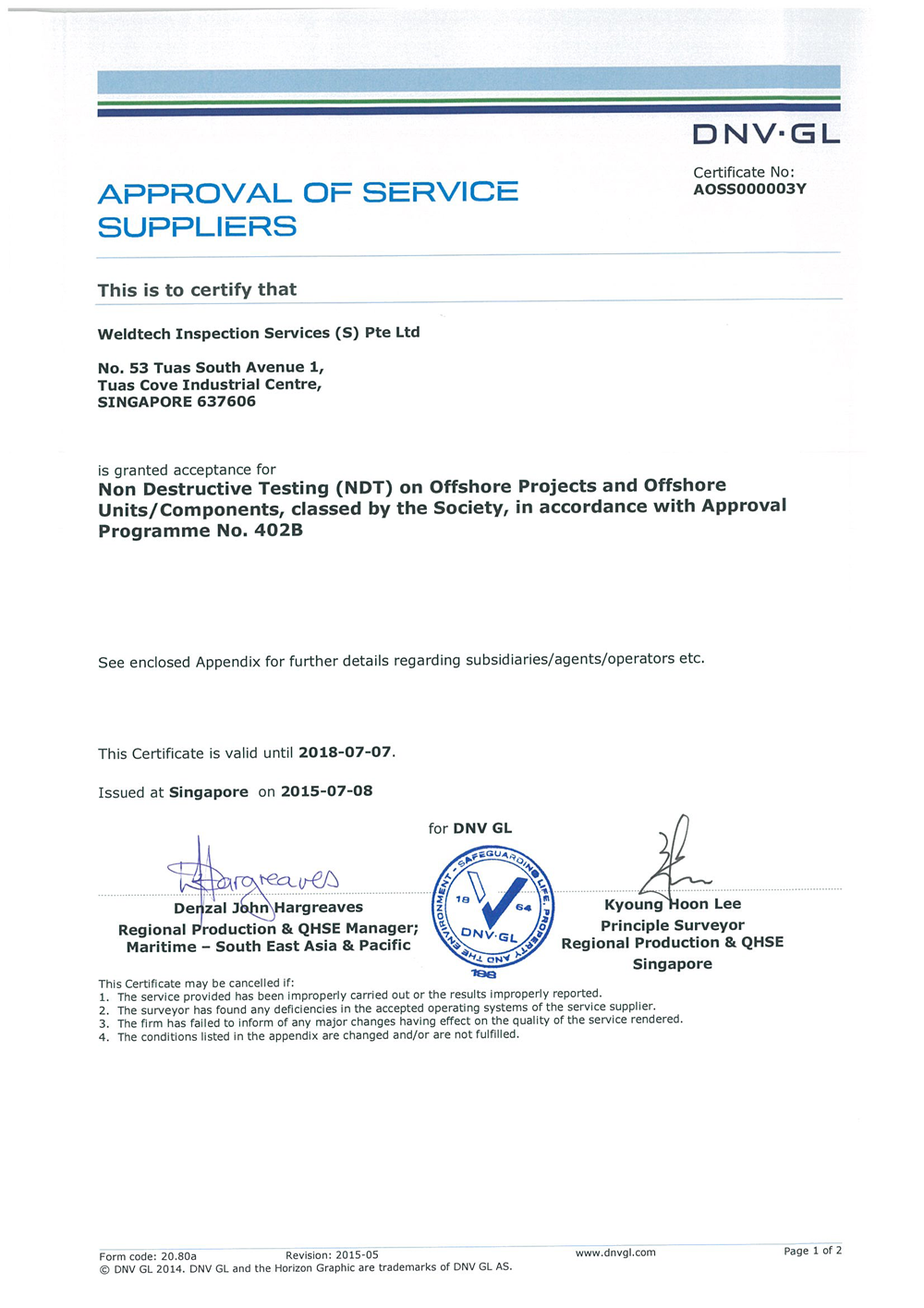 DNV approved NDT Supplier Certificate_Page_1